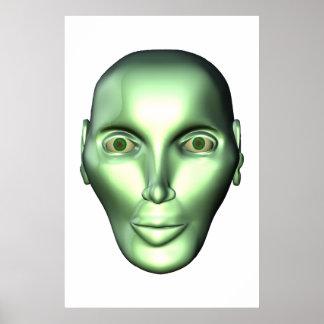 el ser extraterrestre principal extranjero 3D post Posters