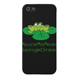 El ser fácil de la rana célula verde Pho de la mot iPhone 5 Cárcasa