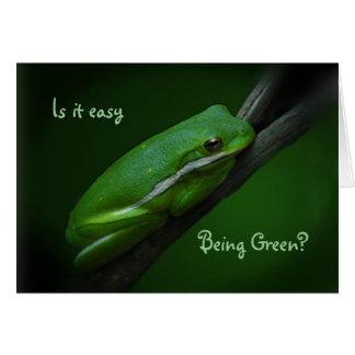 El ser fácil tarjeta del día de St Patrick verde