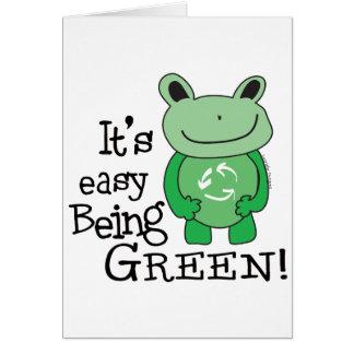 El ser fácil verde tarjeta de felicitación