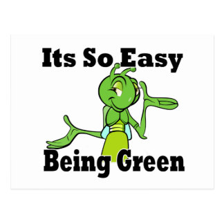 El ser fácil verde tarjetas postales