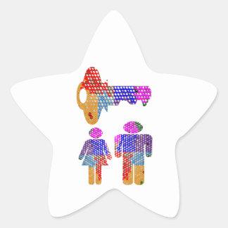 El ser FELIZ JUNTO es la llave Calcomanía Forma De Estrella Personalizada
