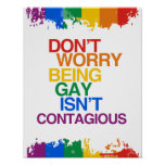 EL SER GAY NO ES CONTAGIOSO POSTER
