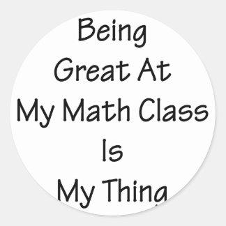 El ser grande en mi clase de la matemáticas es mi etiqueta