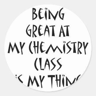 El ser grande en mi clase de química es mi cosa etiquetas