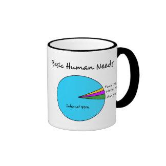 El ser humano básico divertido necesita (el taza de dos colores