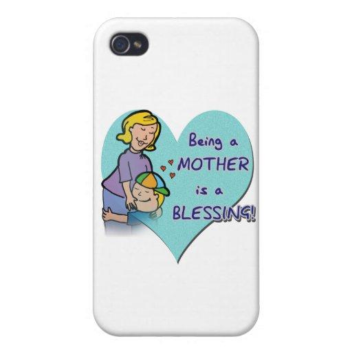 El ser madre es una bendición iPhone 4 carcasa