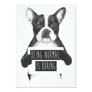 """El ser normal está agujereando invitación 5"""" x 7"""""""