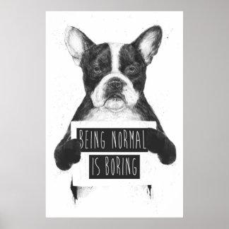 El ser normal está agujereando póster