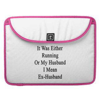_él ser o correr o mi marido yo significar ex Husb Fundas Para Macbook Pro