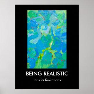 El ser realista tiene su arte abstracto de las póster