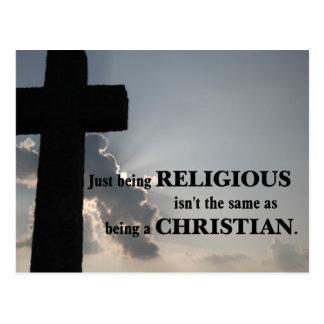 El ser religioso no es igual que siendo cristiano postal