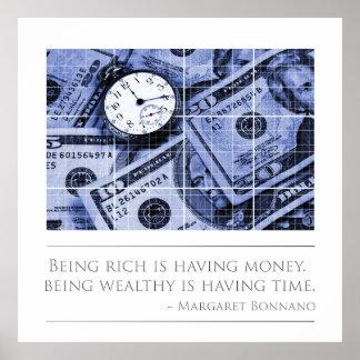 El ser rico está teniendo tiempo poster