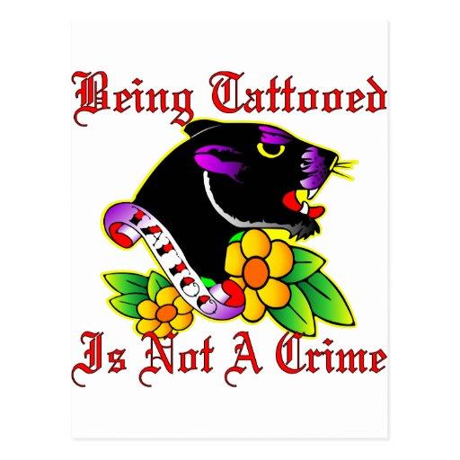 El ser Tattooed no es un crimen Tarjetas Postales
