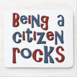 El ser un ciudadano oscila alfombrillas de ratones