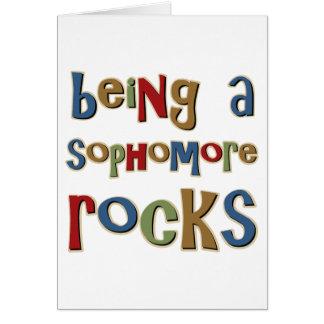 El ser un estudiante de segundo año oscila tarjeta de felicitación