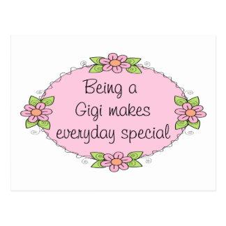 El ser un Gigi hace el Special diario Tarjeta Postal