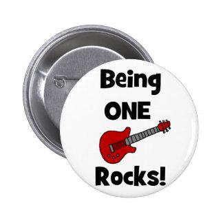 ¡El ser uno oscila! con la guitarra Pin Redondo De 2 Pulgadas