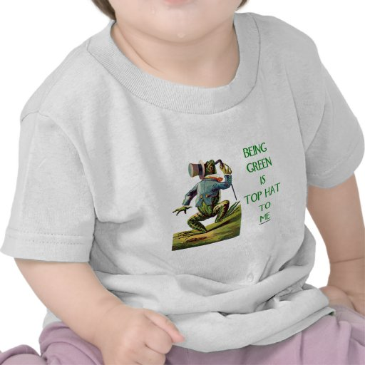 El ser verde es sombrero de copa a mí (la rana amb camisetas