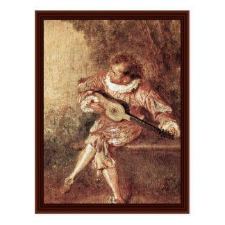 El Serenata de Watteau Antoine Postal