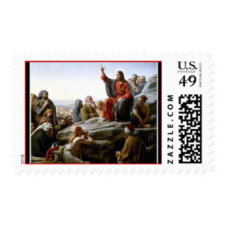 El sermón de la montaña del Jesucristo Timbres Postales