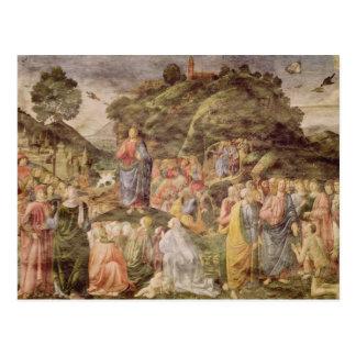 El sermón de la montaña, del Sistine Tarjeta Postal
