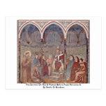 El sermón en el St Francis ante papa Honorius Tarjetas Postales