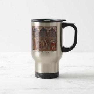 El sermón en el St Francis ante papa Honorius Taza De Café