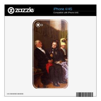 El sermón inspirador (aceite en lona) calcomanía para iPhone 4S