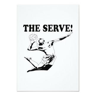 """El servicio 2 invitación 5"""" x 7"""""""
