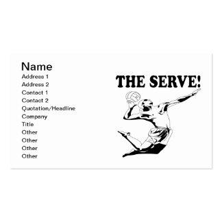 El servicio 2 tarjetas de visita