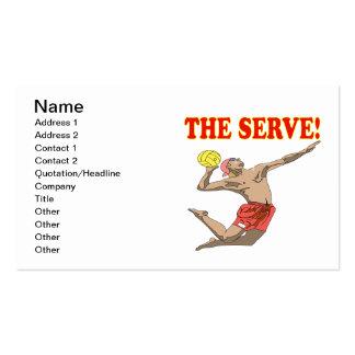 El servicio 3 tarjetas de visita