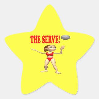 El servicio 4 pegatina en forma de estrella