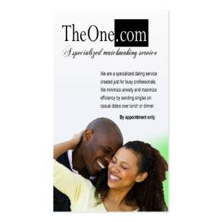 El servicio de la datación, correspondencia, tarjetas de visita