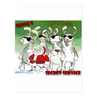 El servicio secreto de Santa Postales