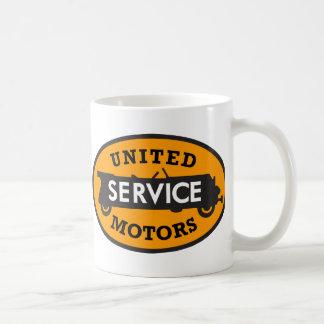El servicio unido vintage viaja en automóvili la taza