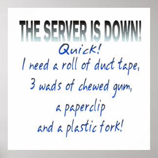El servidor está abajo impresiones