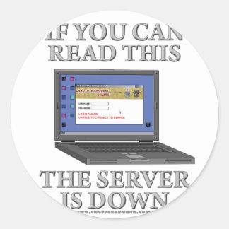 El servidor está abajo pegatinas redondas