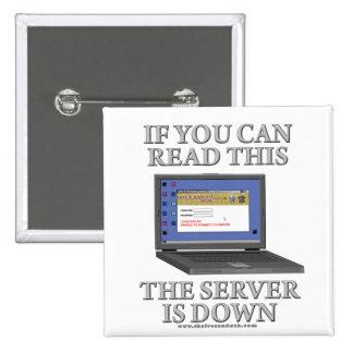 El servidor está abajo pin
