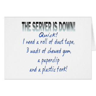 El servidor está abajo felicitaciones