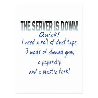 El servidor está abajo tarjeta postal