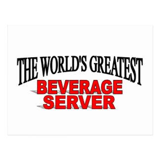 El servidor más grande de la bebida del mundo tarjetas postales