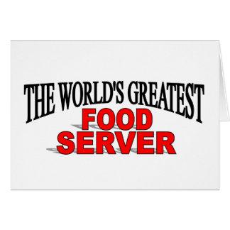 El servidor más grande de la comida del mundo tarjeta de felicitación