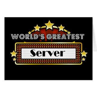 El servidor más grande del mundo tarjeta de felicitación