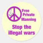 El servir privado libre pegatina redonda
