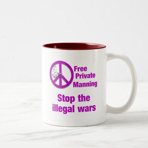 El servir privado libre taza