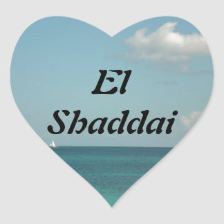 El Shaddai - All Sufficient One Heart Sticker