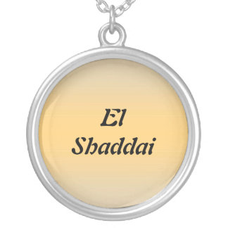 El Shaddai - All Sufficient One Round Pendant Necklace