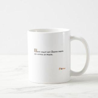 El shalt de mil dejó al papá beber su café en paz taza