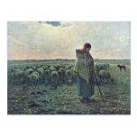 El Shepherdessdeutsch: Shepherdess por el mijo (se Postales